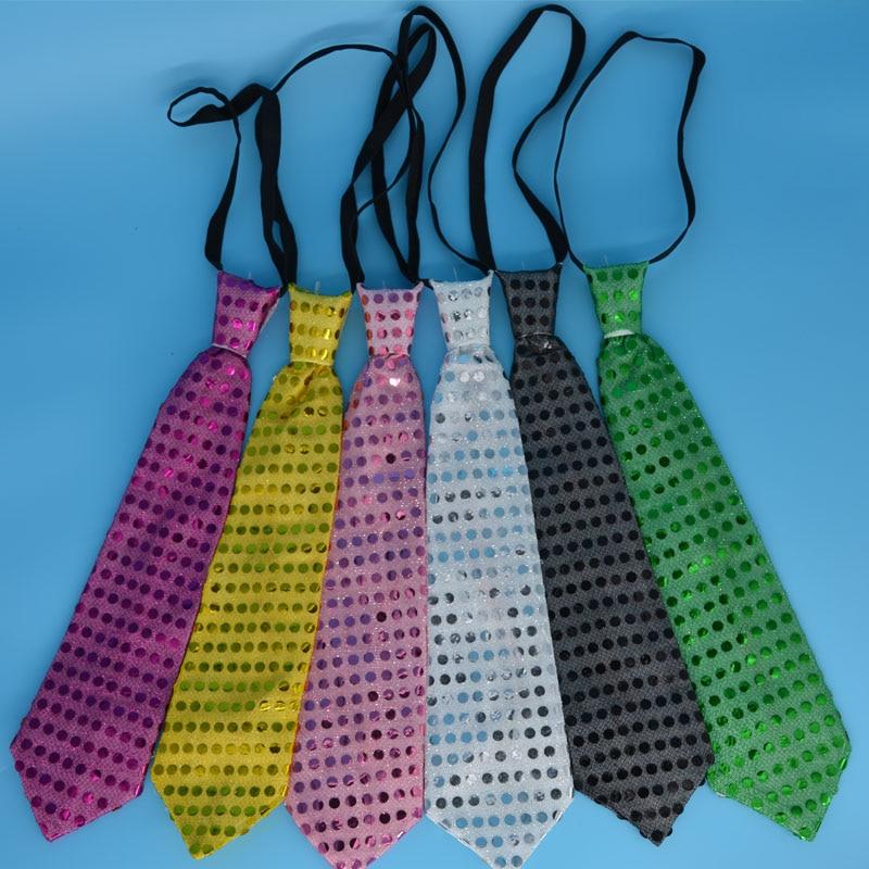 led qalstuk Kişi Qadın Parıldayan Yüngül Yamaq Necktie LED - Şənlik aksesuarları - Fotoqrafiya 3