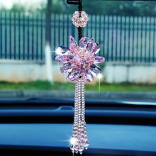 купить Car Hanging Ornaments Auto Beautiful Crystal Hanging Pendant Rear View Mirror Car Decoration Car Styling Accessories по цене 590.09 рублей