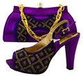 Matching Shoes And Bags Italy With Diamond PU Material African Shoe And Bag Set New Design Italian Shoe With Matching Bag MM1024