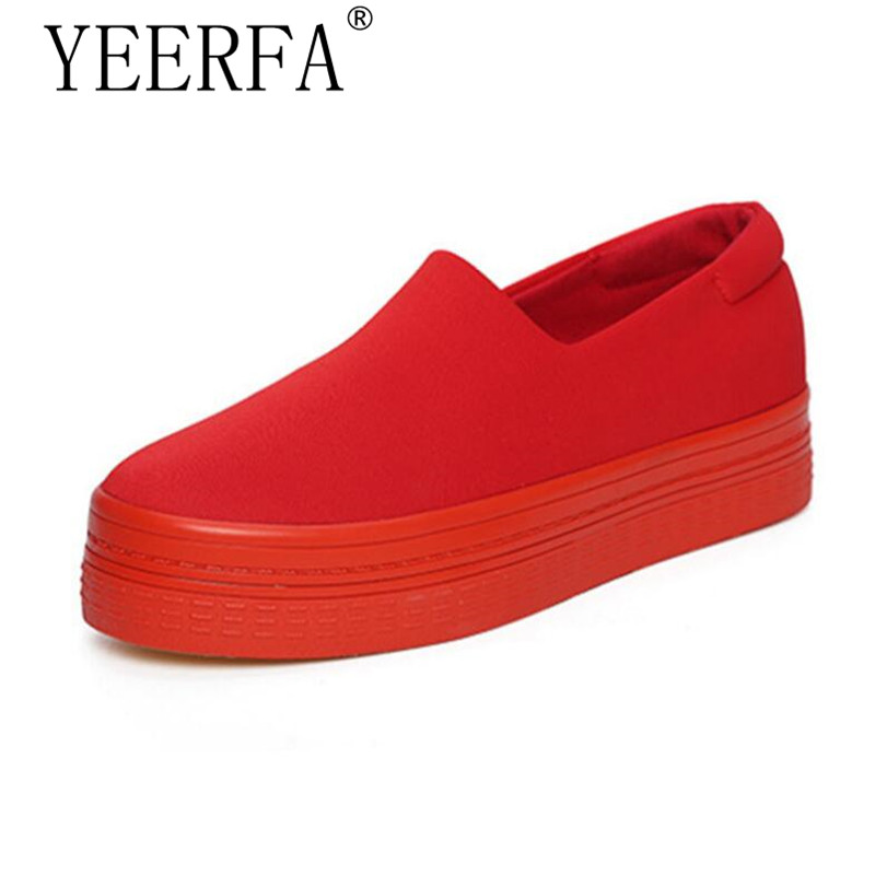 YEERFA 2017 new muffin heavy-bottomed shallow mouth of canvas shoes women shoes casual shoes a pedal student flat bottom shoes 2015 summer shallow mouth of canvas shoes women shoes a pedal lazy shoes casual flat white shoes korean wave shoes