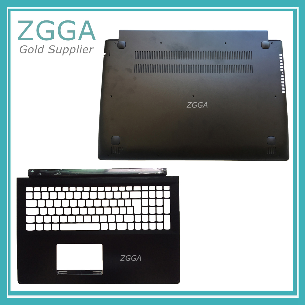 Genuine NEW Palmrest Keyboard Bezel Upper Case &Bottom Cover For Lenovo Flex 2 Pro 15 Edge 15 1580 Base Lower Shell 5C20G91187 genuine new for lenovo thinkpad x1 helix 2nd 20cg 20ch ultrabook pro keyboard us layout backlit palmrest cover big enter