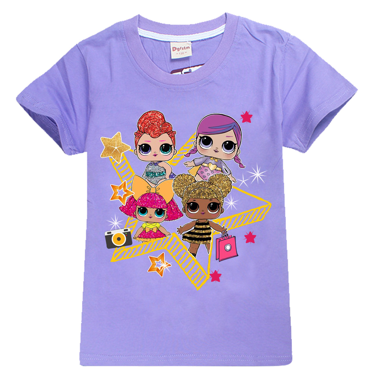 Для активных детей мультфильм ковылять топы для девочек короткий рукав Детская футболка с принтом Футболка для мальчиков летние Детская од...