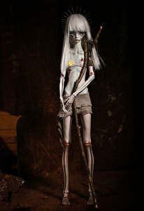 Image 2 - Free shipping 1/4 bjd doll The Hermit IX gray green color