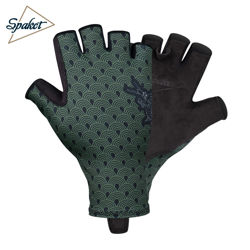 Cycling gloves short finger spring and summer men and women mountain bike half finger gloves