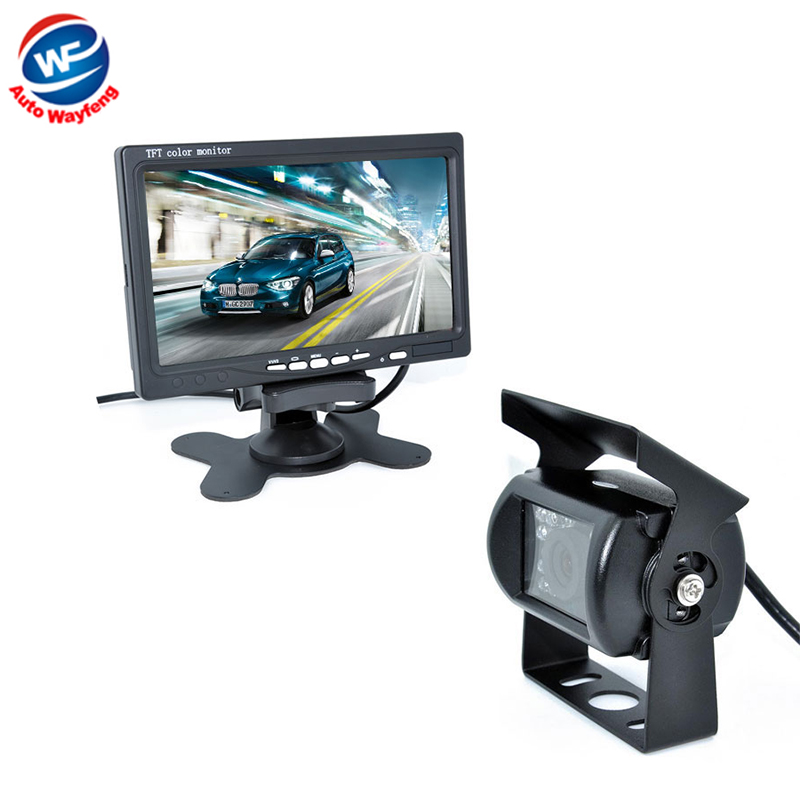 18 IR Reverse Camera +NEW 7 LCD Monitor+Car Rear View Kit car camera BUS And Truck parking sensor Camera 15M Or 20M Cable портативная акустика sony srs xb30 зеленый srsxb30g ru4