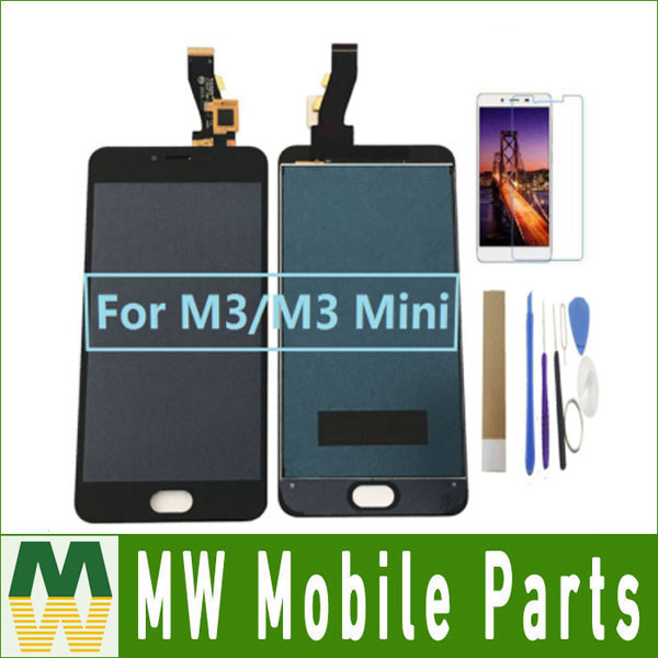 1PC/Lot For <font><b>Meizu</b></font> <font><b>M3</b></font>/ <font><b>M3</b></font> <font><b>Mini</b></font> LCD <font><b>Display</b></font>+Touch Screen Sensor Glass Digitizer Assembly Black White Color With Kit image