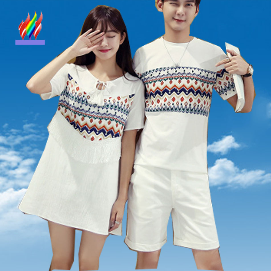 Fashion hot sale korean couple clothes summer casual tops for Dress shirts on sale online
