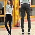 Women Vintage High Waist Jeans Pencil Stretch Denim Pants Female Slim Skinny Trousers Plus Size DF-65C140926