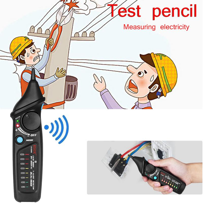 Intelligent Non-contact Electroscope Pen AC Voltage Detector Tester Meter Induction Test Pen Electrician Voltage Detector Tool