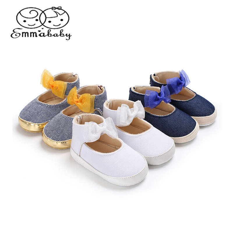 Emmababy Newborn Baby Boy Girl Pre Walker Soft Sole White Pram Shoes  Trainers Size 0-18 M 6c022b0b5