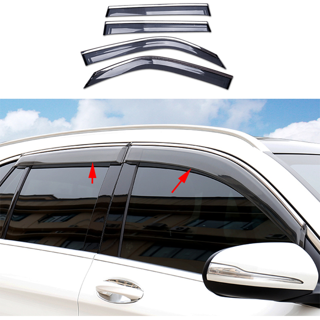 4x Door Window Visor Deflector Rain Guard For Mercedes-Benz GLC Class X205 2016-  sc 1 st  AliExpress.com : door deflector - pezcame.com