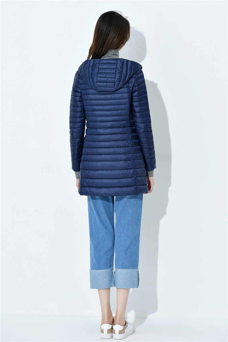 NewBang плюс 6XL 7XL пуховик женский длинный ультра легкий пуховик женский большой размер осень зима пуховик одежда оверсайз
