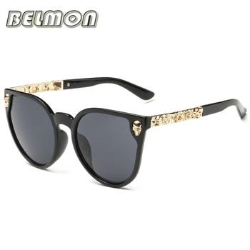 069e143735 Moda Gafas de sol mujer de lujo marca diseñador clásico cráneo Sol Gafas  para las señoras UV400 anti-reflective mujer de rs102