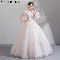 SOCCI Vestido De Novia Pink Wedding Dress 2018 New Luxury Beaded Bride Dresses Organza with Embroidery Plus Size Marriage Gown