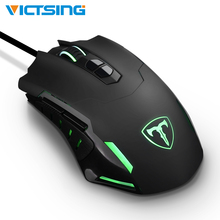 VicTsing Hot Wired Gaming Mouse 5 Levels DPI Adjustable Best PC Gaming Mouse Ergonomic Mouse With Breathing Backlight 7 Button original razer mamba tournament edition wired gaming mouse 16000 dpi 5g laser sensor chroma light ergonomic gaming mouse