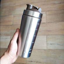 739ml 304 Stainless steel protein powder shaker blender water bottle fitness home office whey camping sport drinking water