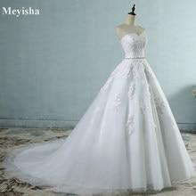 cbcc44eb75 ZJ9032 2017 encaje flor Sweetheart blanco marfil moda Sexy vestidos de  novia para las novias más el tamaño maxi tamaño 2-26 W