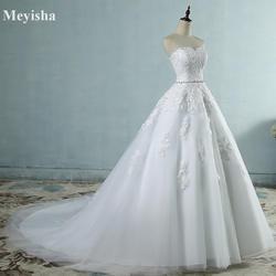 ZJ9032 2017 кружева цветок милое платье цвета слоновой кости модные, пикантные Свадебные платья для невест Большие размеры макси размер 2-26 Вт