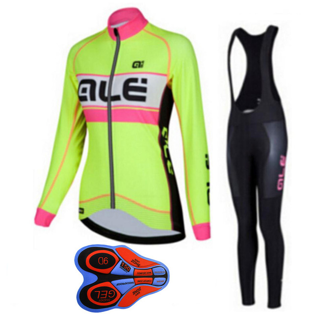 ALE 2018 Cycling Womens Professional Bike Riding Suit Quick-drying long-sleeved mountain bike clothing breathable bicycle wear