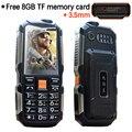 MAFAM L18 envío 8G tarjeta de memoria a prueba de golpes de 3.5mm jack de auriculares banco de la energía de Una sola Tecla SOS FM inalámbrico de alto robusto teléfono móvil P033