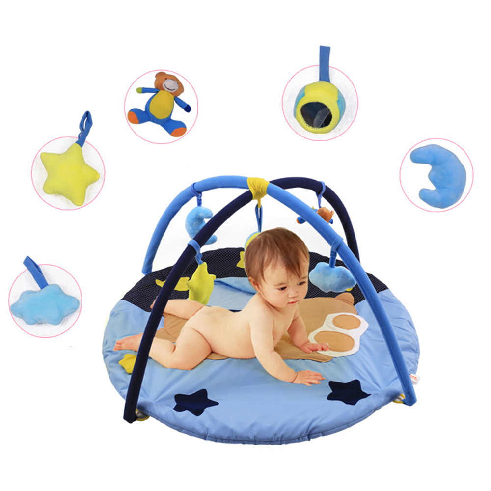 Cartoon Baby Kids Rug Floor Play Mat Game Play Carpet Infant Soft Playmat Educational Hanging Toy Play Game Mat Crawling Blanket 3 in 1 newborn infant baby game bed baby toddler cribs crawling activity gym mat floor blanket kids toys carpet bedding soft