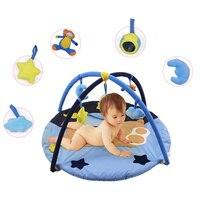 Cartoon Baby Kids Rug Floor Play Mat Game Play Carpet Infant Soft Playmat Educational Hanging Toy Play Game Mat Crawling Blanket