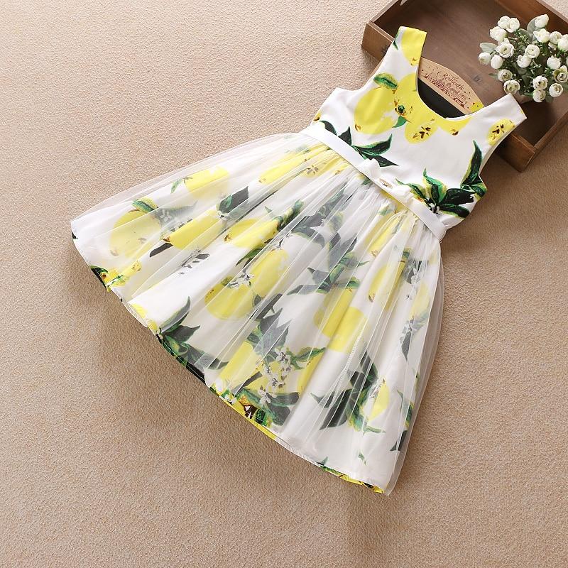 Summer Children Girl's dress 2017 Cotton sleeveless Kid flower Clothes Princess 5-13 year old Beach Style kids dresses for girls