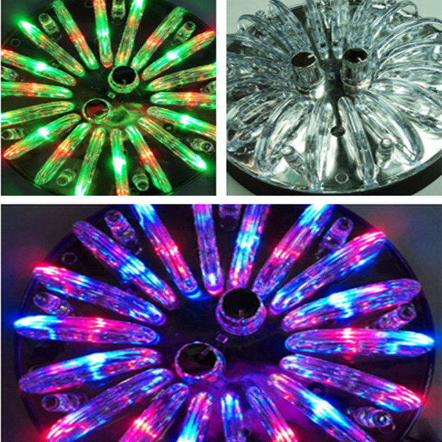 Car Styling Ceiling Light Crystal Atmosphere Lamp Colorful Or Single Color With 2 Buttons