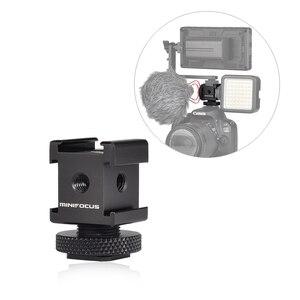 Image 1 - Adattatore cardanico triplo per montaggio su slitta fredda per luci, monitor a LED, microfoni, registratore Audio e videocamera con staffa Flash da Studio