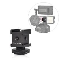 Triple Cold Shoe Mount Gimbal Adapter for Lights, LED Monitors, Microphones, Audio Recorder & Studio Flash Bracket Video Camera