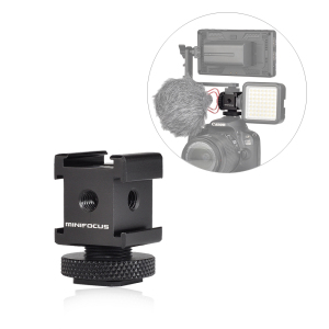 Image 1 - Triple Cold Shoe Mount Gimbal Adapter for Lights, LED Monitors, Microphones, Audio Recorder & Studio Flash Bracket Video Camera