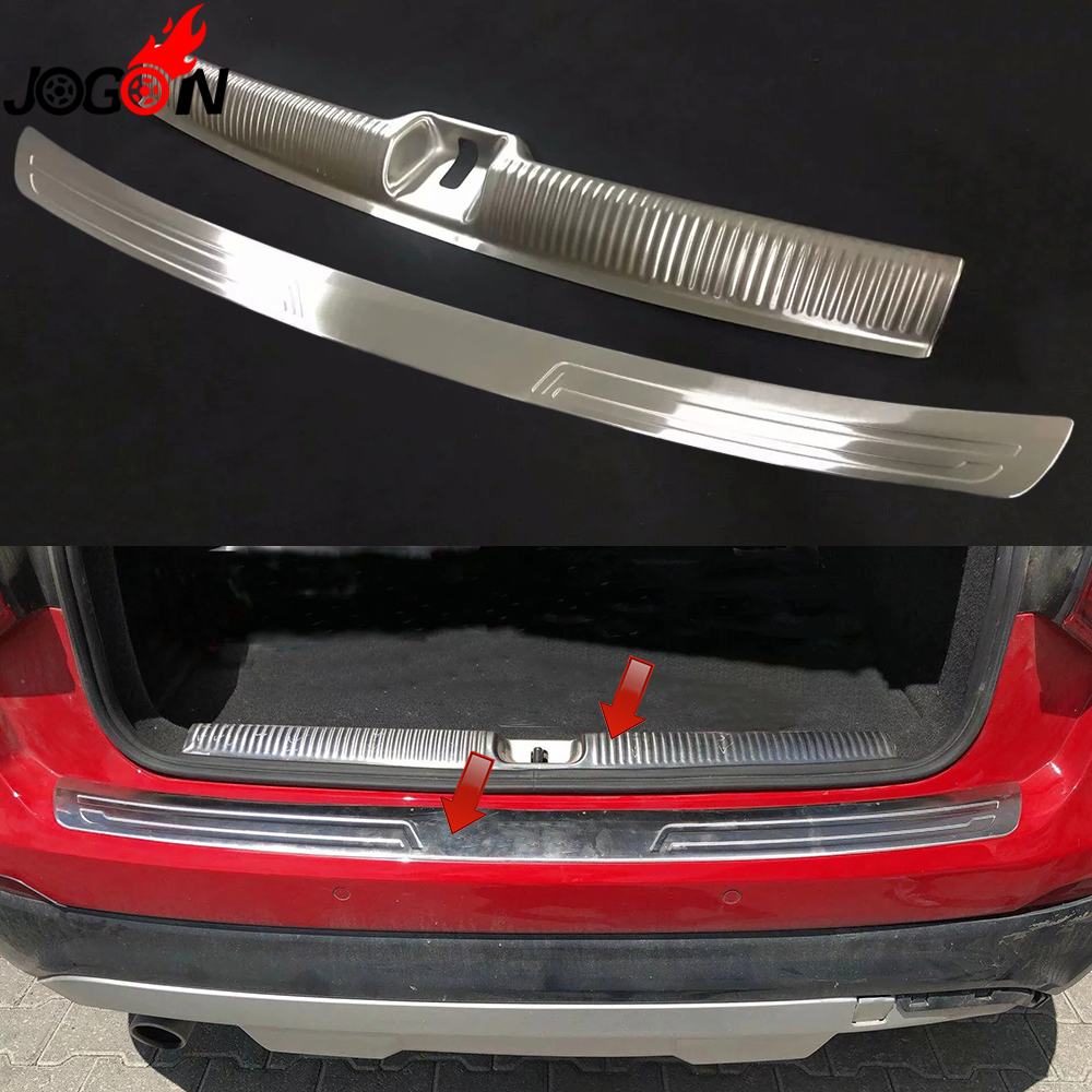 For Audi Q2 2017 2018 2019 Car Styling Rear Trunk Door Sill Plate Guard Protector Cover Trim Stainless Steel AccessoriesFor Audi Q2 2017 2018 2019 Car Styling Rear Trunk Door Sill Plate Guard Protector Cover Trim Stainless Steel Accessories