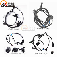 New 4pcs Front Rear ABS Wheel Speed Sensors Set Fits Mitsubishi Lancer Outlander 4670A576 4670A575 4670A580