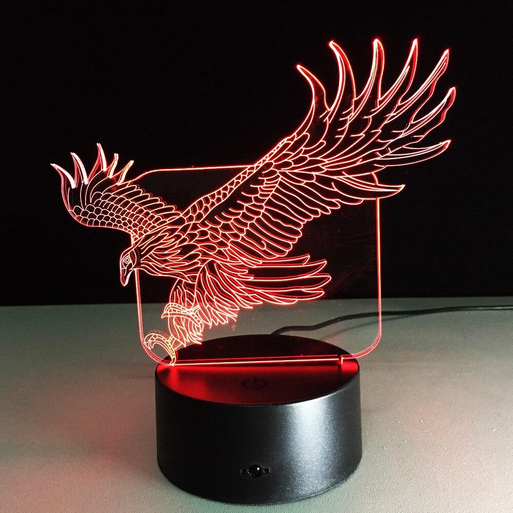 Eagle Lampe Enfant 3d Illusion Night Lamp Usb Nightlight