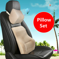 Memory Cotton Cushion Driver Back Support Head Protector Pillows Lumbar Backrest Cushions Car Waist Lumbar Set