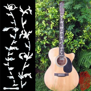 Acoustic Electric Guitar Inlay Sticker Copy Fret Board Sticker - Tree of Life guitar or bass tree of life fretboard silver color inlay ultra thin sticker