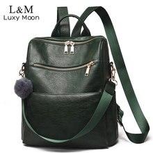 نساء حقيبة ظهر موضة جلد حقائب ظهر للمراهقين بنات أنثى مدرسة حقيبة كتف سيدة كبيرة على ظهره mochila Mujer XA319H