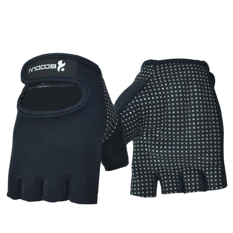 Mężczyźni Kobiety Rękawice gimnastyczne Pół palca Antypoślizgowe Crossfit Fitness Sportowe Rękawice Hantle Kulturystyka Podnoszenie ciężarów GYM Equipment
