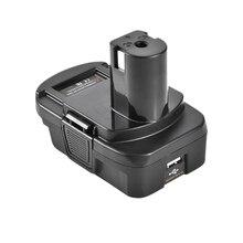 Adaptador convertidor de batería de litio Dm18Rl para Milwaukee Ryobi 20V/P108 Abp1801 18V, batería de ion de litio