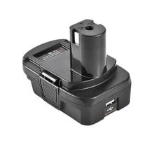 Dm18Rl lityum pil dönüştürücü adaptör Milwaukee Ryobi 20V/18V P108 Abp1801 Li Ion pil