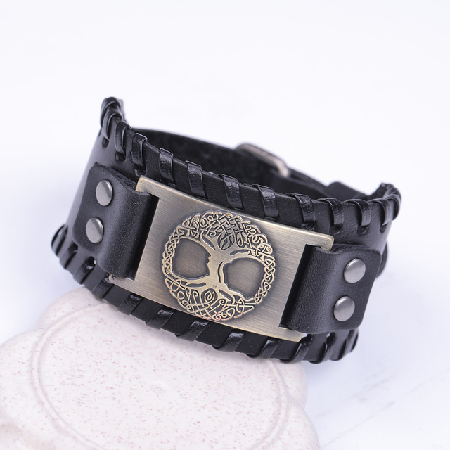 Tree Of Life - Genuine Leather Bracelet  2
