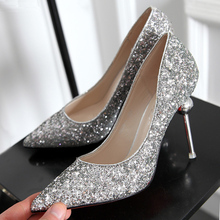 2017 New Fashion Women Sexy Pumps Red Bottoms Nightclub Party Luxury Glitter Pumps High Heels Shoes For Lady SS1611036