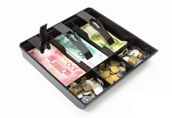цена GUANHE hard plastic case 6 Box new Store Use Money Classify store Cashier Drawer box 24.6cm*24.4cm*3.5cm cash drawer tray