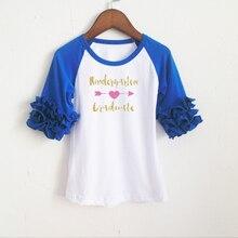 Azul royal top-venda camisa t manga raglan-tee de mangas compridas vestido de roupas para crianças