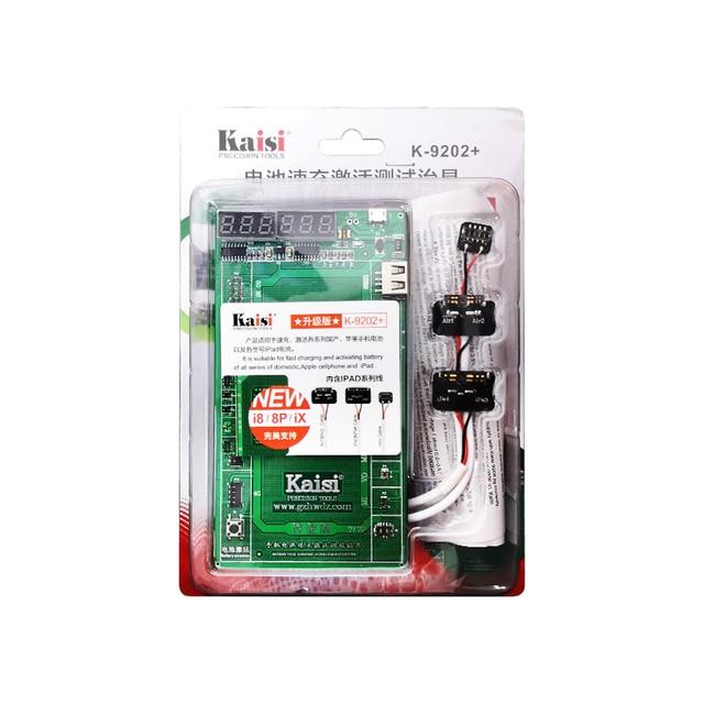 K-9202 Pin Kiểm Tra Lịch Thi Đấu Nhanh Chóng Sạc Kích Hoạt Ban Đối Với iPad 3/4/5/6/Mini Cho iPhone Board Mạch Logic Hiện Tại Tester