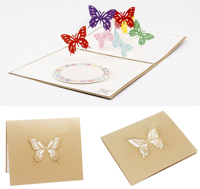 Aliexpress buy 3d pop up greeting card butterfly happy 3d pop up greeting card butterfly happy anniversary birthday valentine christmas for her greeting card kt0934 m4hsunfo