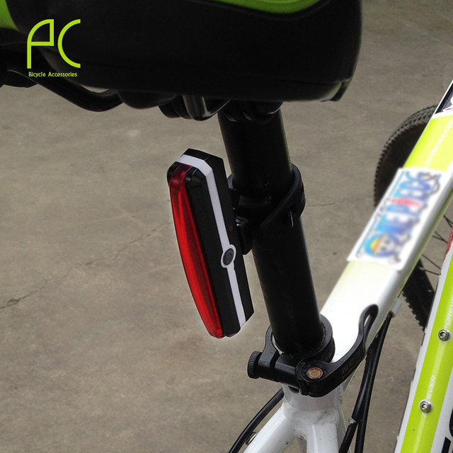 PCycling Super Bright Waterproof USB Rechargeable Bicycle Tail Rear Safety Warning Light 3 Modes 5 colors Bycicle Accessories
