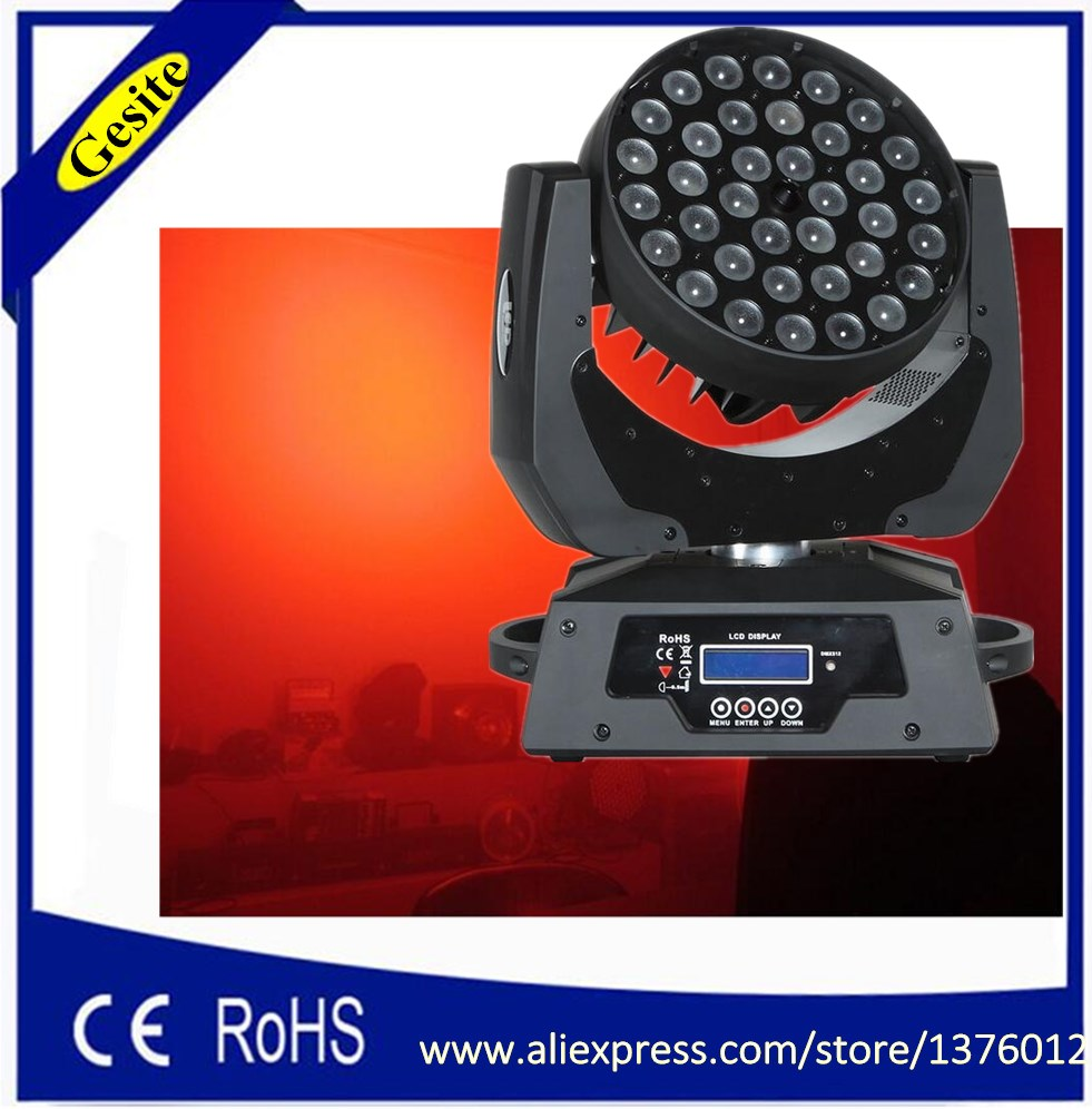 New Hot pas cher tête mobile 36pcs 18W RGBWA + UV LED Wash Zoom Light