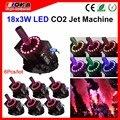 6 шт./лот LED Co2 Jet Cannon RGB цветовое освещение эффект Co2 Cryo Дискотека дымовые эффекты машина оборудование для вечеринки