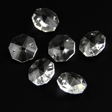 50pcs 14mm Clear Crystal Octagon Beads Glass Prism Diy Beads for Curtain Accessories Home Decoration Jewelry Making free shipping top quality customized crystal glass beads garland strands diy crystal curtain for home decoration 22 1 2m lot
